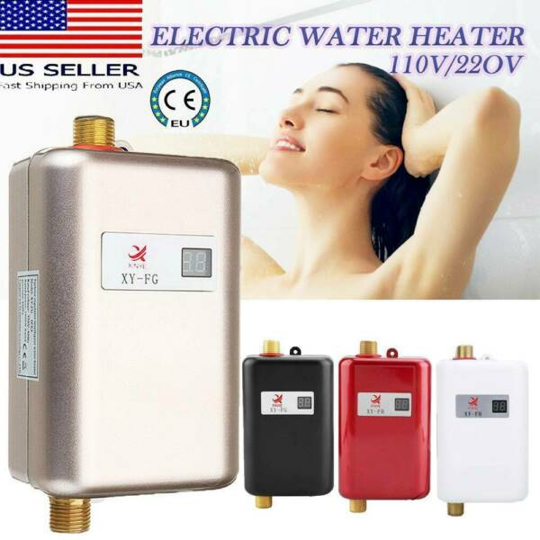 Electric Tankless Instant Hot Water Heater Under Sink Tap Bathroom Kitchen $52.99