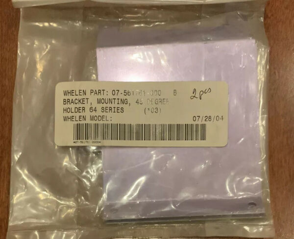 Whelen Mounting Bracket 45 degrees Holder 64 Series P N 07 561761 000 New 2