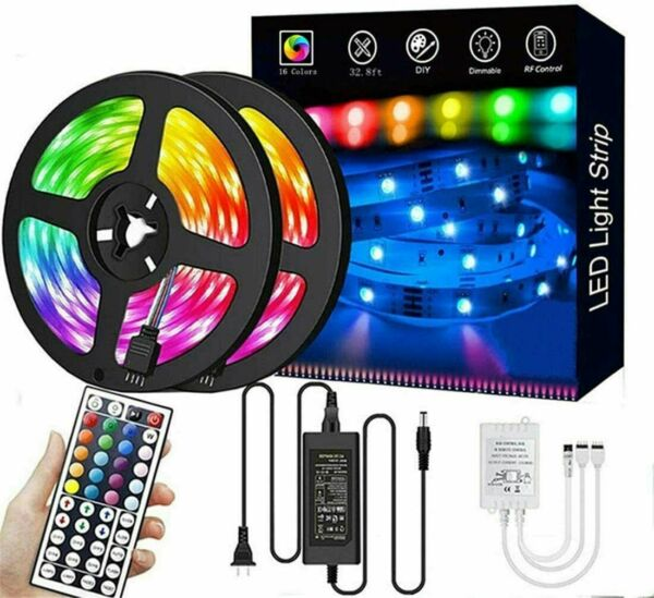 Led Strip Lights 33 ft RGB Led Room Lights 5050 Led Tape Lights Color Changing