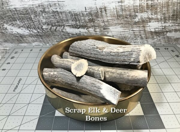 One 1 Pound of Scrap Whole or Split Elk and Deer Antlers Dog Chews $16.25