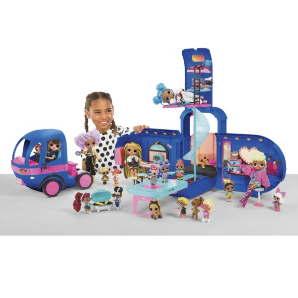 Glamper Fashion Camper Dollhouse LOL Surprise OMG 4 in 1 with 55 Surprises Blue