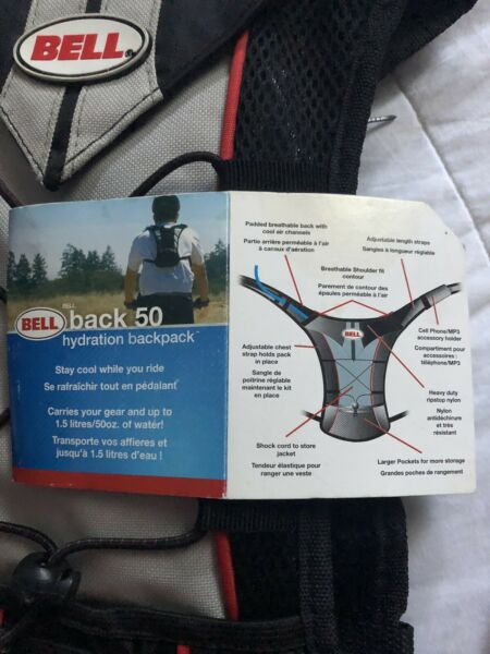 New Bell Back 50 Hydration Backpack Water Pouch Bag Camel Back Hiking Backpack $30.00
