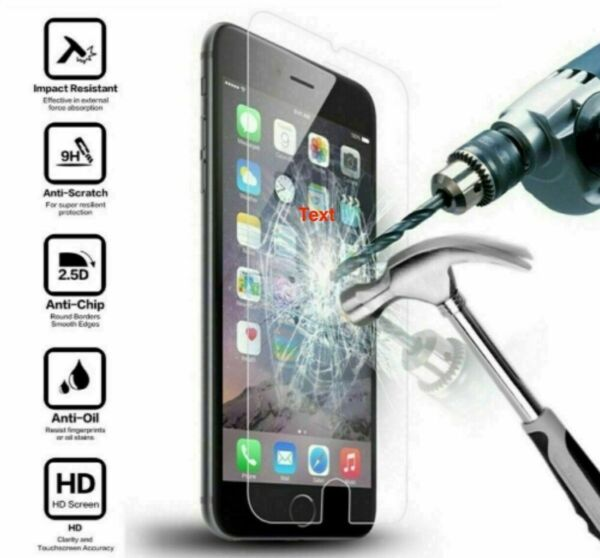 iPhone 6 6S 7 8 Plus X XS XR XS Max Tempered Glass Screen Protector Single Pack $0.99