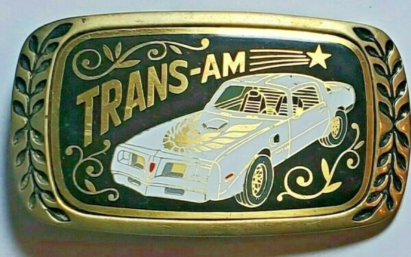 Vintage Belt Buckle 1980 Pontiac Trans Am Aminco Heritage Buckles Brass