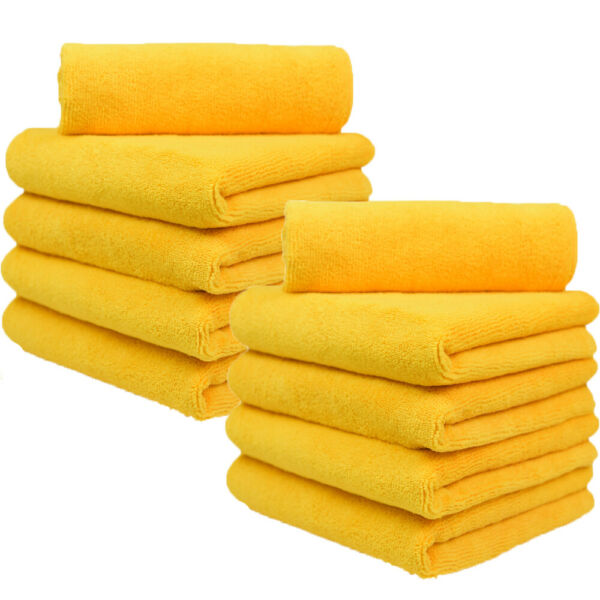 Microfiber Car Cleaning Towels Lint Free 16quot; x 16quot; orange Cloth Rags $26.99