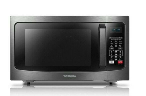 Toshiba EC042A5C BS 1000W Convection Microwave Oven 1.5 cu. ft.
