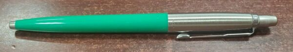 1 GREEN PARKER JOTTER ORIGINAL BALLPOINT PEN MEDIUM BLACK INK MADE IN FRANCE