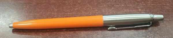 1 ORANGE PARKER JOTTER ORIGINAL BALLPOINT PEN MEDIUM BLACK INK MADE IN FRANCE