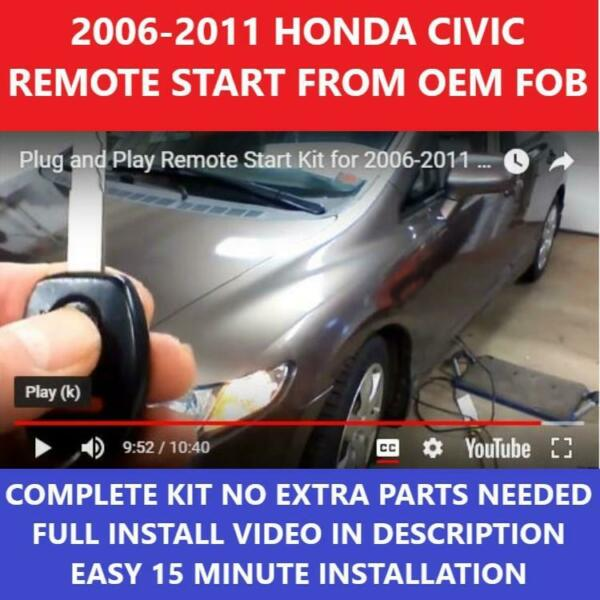 PLUG amp; PLAY REMOTE START 2006 2011 HONDA CIVIC