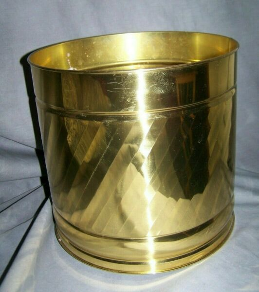 Vintage BRASS PLANTER Bristol Tennessee DECOR 10quot; tall x 10quot; CRAFTED in America