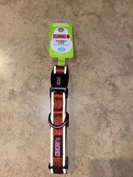 KONG Dog Collar Small 10 14 Inches Comfort Reflective Orange NEW $15.00