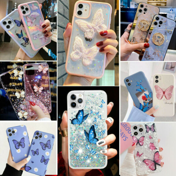 For Iphone 12 Pro Max 11 XS Max XR 8 Plus Cute Shockproof Girls Phone Case Cover $7.97