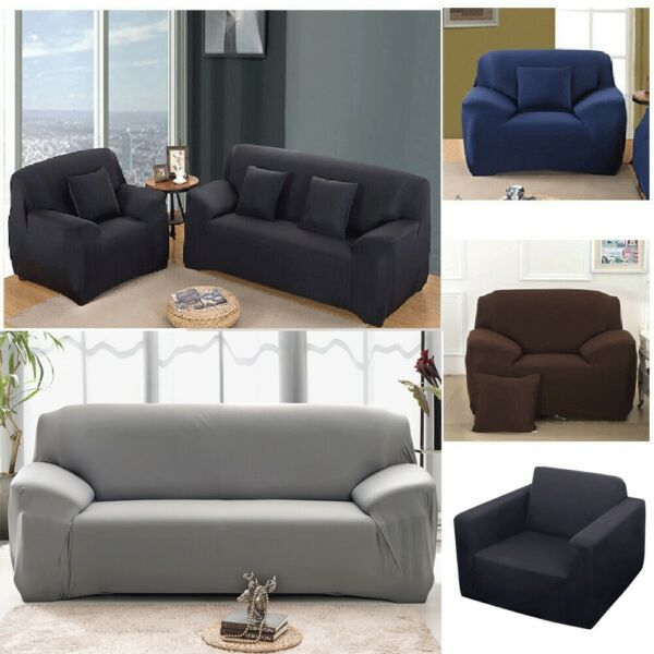 Stretch Chair Sofa Furniture Cover 1 2 3Seater Couch Elastic Slipcover Protector $15.98