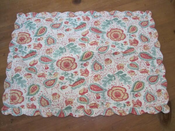 French Country quilted reversible print placemats set of 4 $25.00
