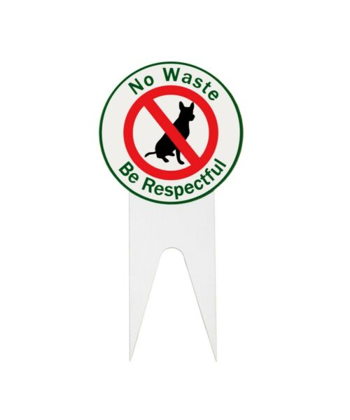 No Waste Be Respectful Dog Signs Dog Poop Sign. Made in the USA NEW $14.99