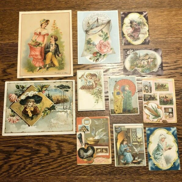 Lot 11 Adv Lion Griswold Coffee Trade Picture Educational Cards Gillett#x27;s Bluing
