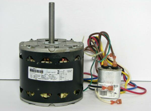 AO SMITH F48Y14A50 FURNACE BLOWER MOTOR CAPACITOR 115V 1 2HP 1075RPM 4SPD 267037 $65.00