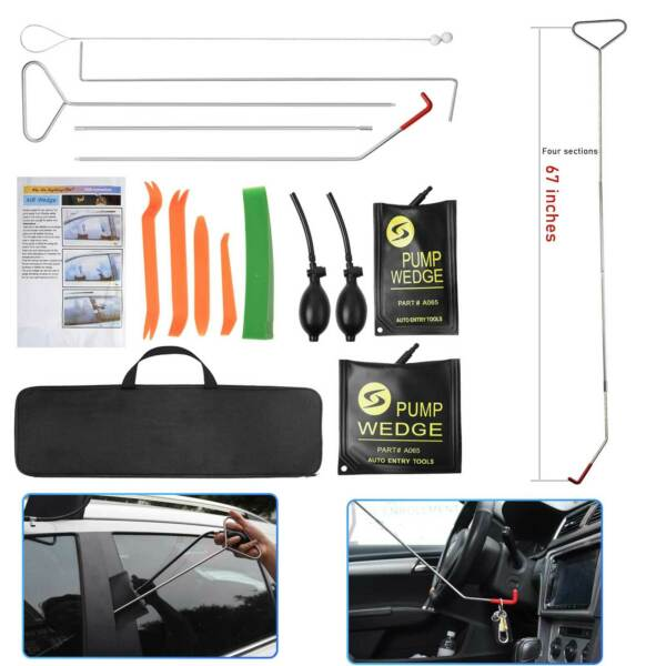Universal Truck Car Window Lockout Professional Kit Air Wedge Non Marring Wedge $42.09