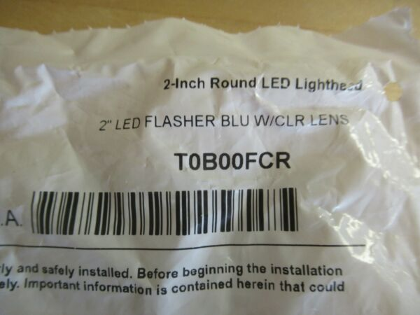 Whelen T0B00FCR 2quot; Round Flasher Blue w clear lens