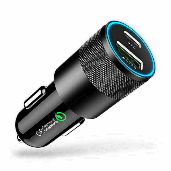 18W PD Type C 3.0 Fast Car Charger Adapter USB Charging For iPhone12 11 Pro Max $7.54