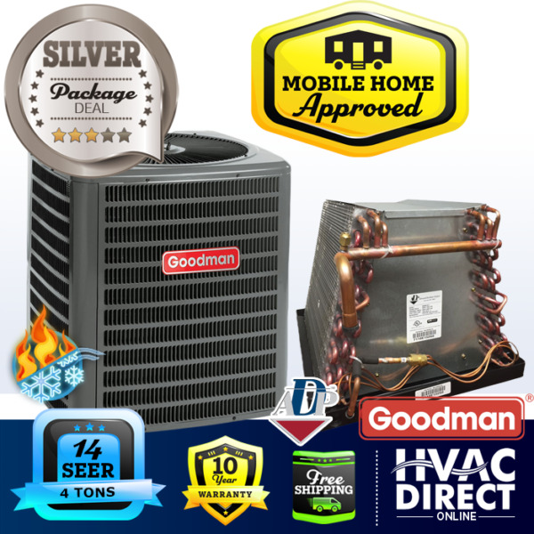 4 Ton 14 SEER Goodman Mobile Home Approved AC Heat Pump Condenser and ADP Coil $2600.00