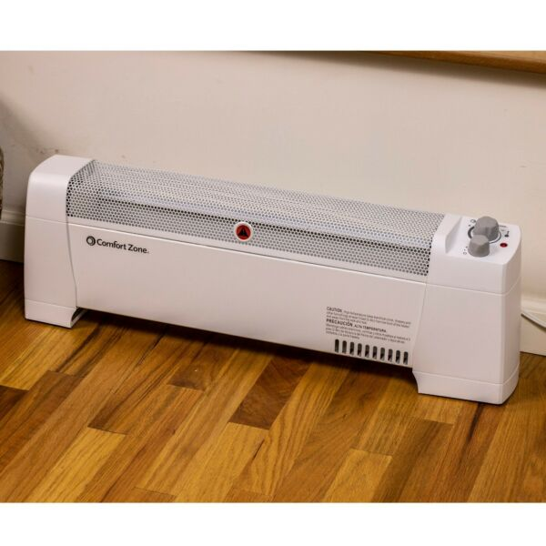 Comfort Zone 1500 Watt CZ650B Digital Baseboard Heater with Silent Operation
