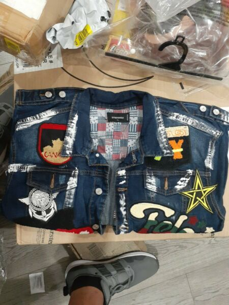 DSquared2 MENS Denim Patch Jacket $147.00