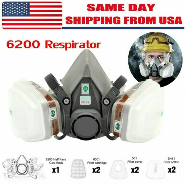 Special Offer 7in1 Gas Mask Spray Painting 6200 Respirator Safety Reusable $17.99