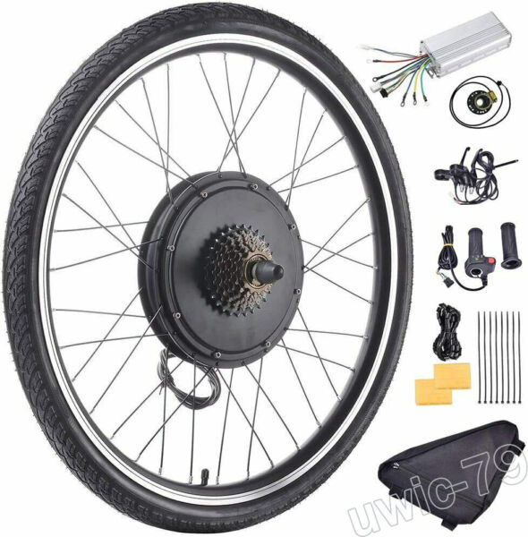 48V 1500W Rear Wheel for 26quot;E bike Bike Conversion Kit Hub Motor Brushless $209.00
