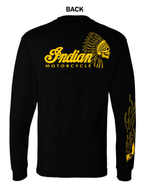 INDIAN MOTORCYCLE GRAPHIC T SHIRT LONG SLEEVE