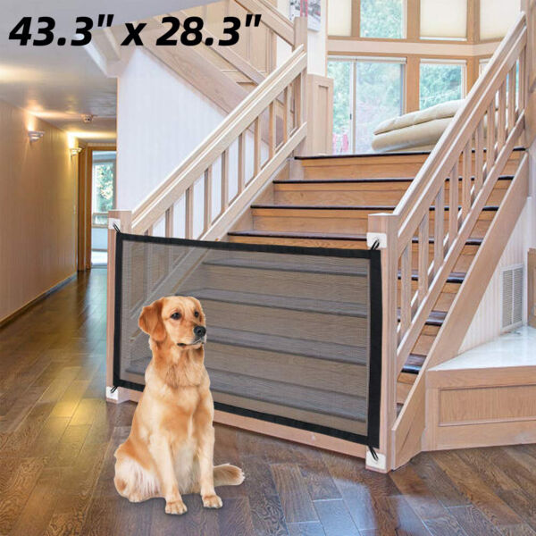 Baby Pets Dog Cat Safety Door Guard Mesh Gate Fence Home Kitchen Net Retractable $13.93