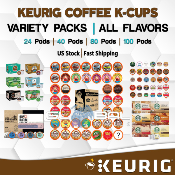 Coffee K Cups VARIETY PACKS SAMPLERS From 24 to 100 Pods All Flavor Fast KEURIG
