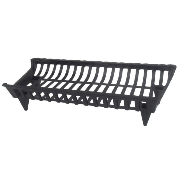 Cast Iron Fireplace Grate Heavy Duty Steel Black Burning Log Firewood Rack New