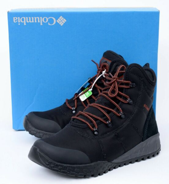 NIB COLUMBIA Fairbanks Black Omni Heat Waterproof Winter Snow Boots 10 EU 43