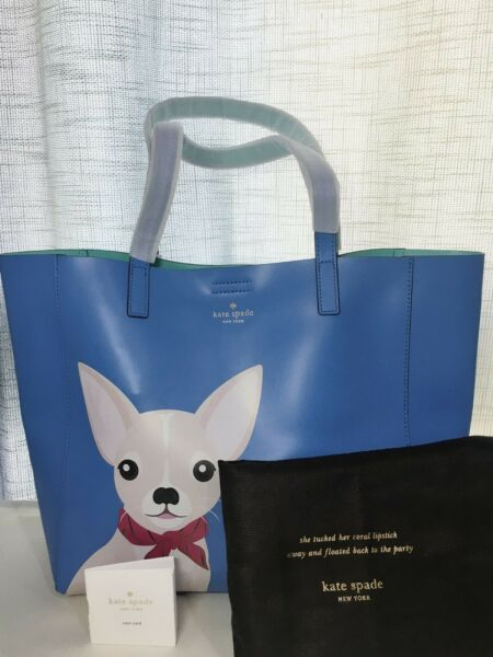 NWT kate Spade Chihuahua Year of The Dog Out of Office Adventblue Tote Limit E. $325.00