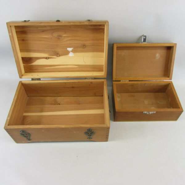 Lot of 2 wood boxes Mcgraw Other