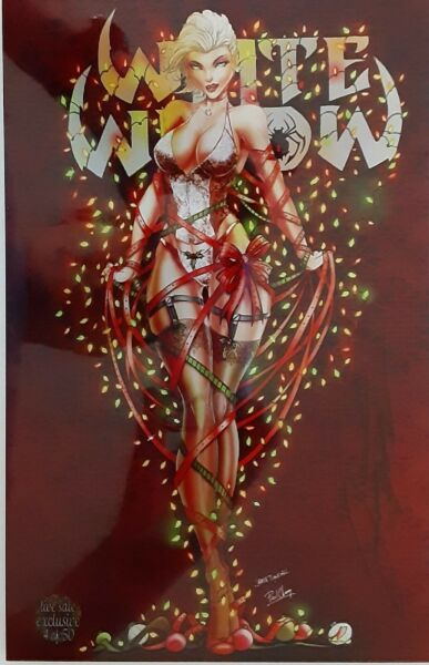 White Widow # 5 Live Sale Christmas Metal Cover Limited # 4 of 50 Signed NM