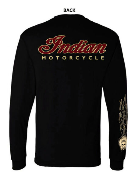 1INDIAN MOTORCYCLE VINTAGE T SHIRT LONG SLEEVE