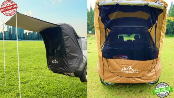 Portable Camper Trailer Tent Truck SUV Rooftop Car Awning Outdoor Camping 2021 $244.99
