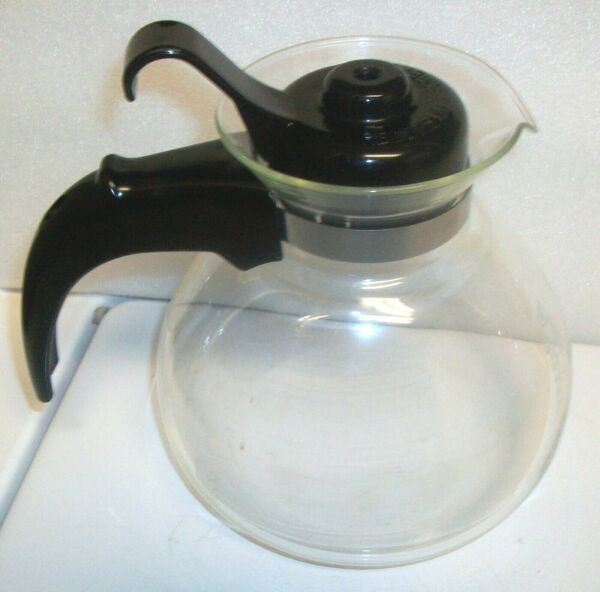 Kettle Tea Pot Water Glass Fast Whistling Coffee Stovetop 12 Cups SCHOTT Duran