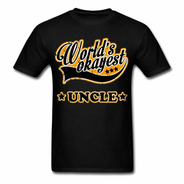 Vintage World#x27;s Okayest Uncle Men#x27;s T Shirt