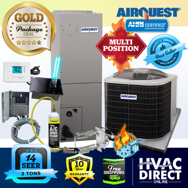 3 Ton 14 SEER AirQuest Heil by Carrier Heat Pump System w Replace Install Kit $2390.00