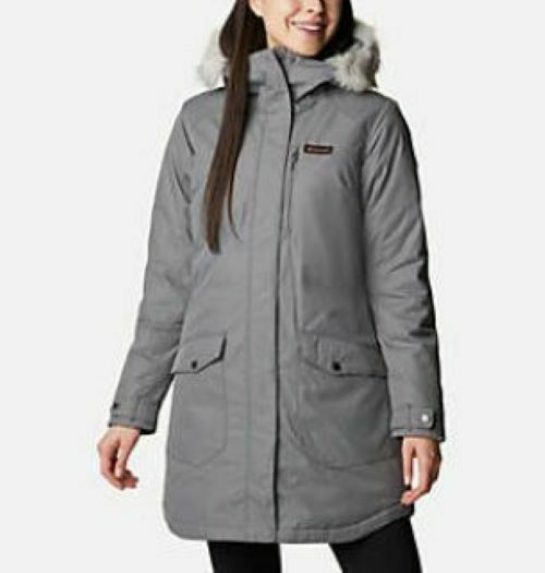 Columbia Suttle Mountain Insulated Hooded Omni Heat Long Winter Womans Parka NWT