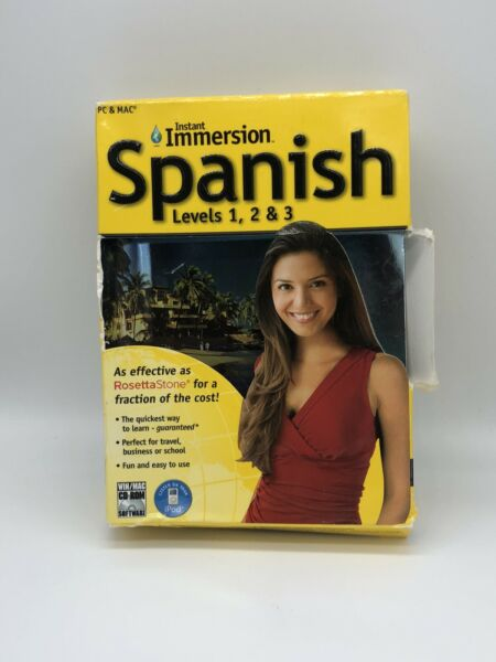 Instant Immersion Spanish Levels 12 amp; 3 9 Disc Set $9.99