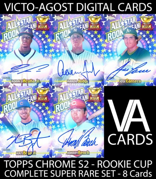 Topps Bunt Chrome S2 COMPLETE ROOKIE CUP SUPER RARE SET 8 CARDS DIGITAL CARDS