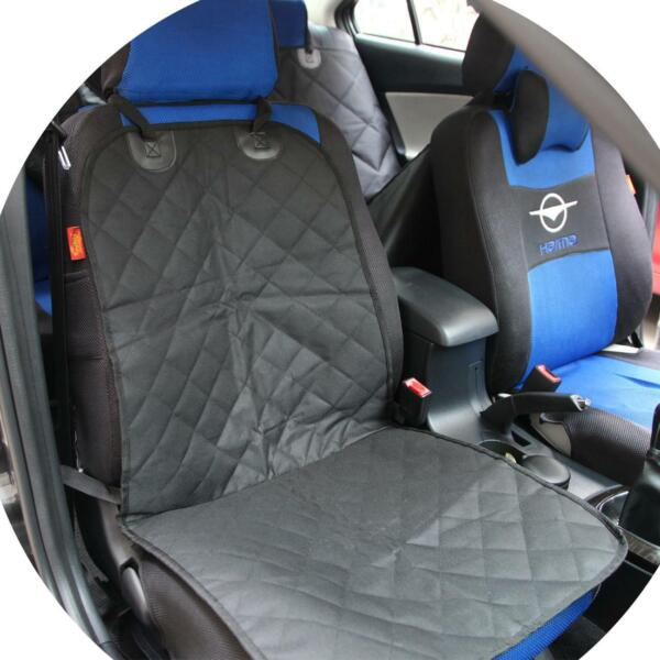 Front Seat Quilted Cotton Dog Pad Black 100*52cm Dog Seat Cover for car $12.59