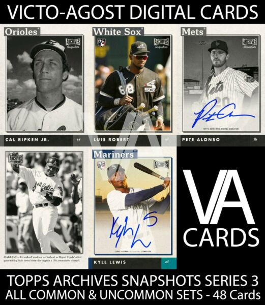 Topps Bunt Archives Snapshots S3 COMMON amp; UNCOMMON SETS 48 CARDS DIGITAL CARDS