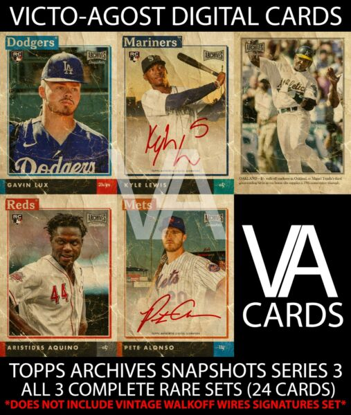 Topps Bunt Archives Snapshots S3 ALL 3 RARE SETS 24 Cards DIGITAL CARDS