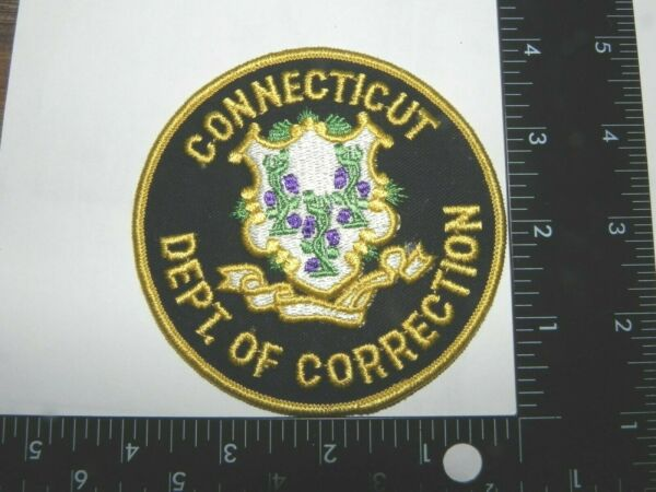 CONNECTICUT DEPT. OF CORRECTIONS POLICE LARGE AND SMALL 2 LOT $5.00