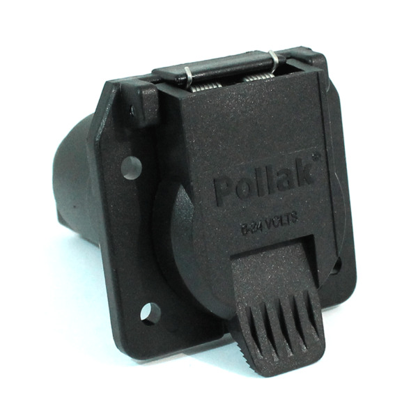 Pollak 12 707 7 Way RV Trailer Connector Socket Heavy Duty Nylon